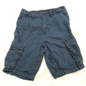A E Outfitters Cargo Shorts 100% Cotton 26 Blue
